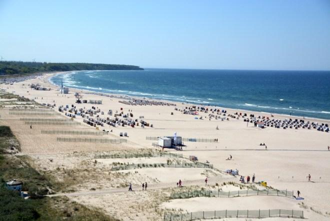 Ein Teil des 15 Kilometer langen Warnemünder Strandes