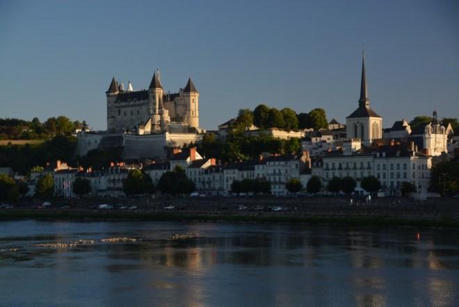 Schloss Saumur in der Abendsonne