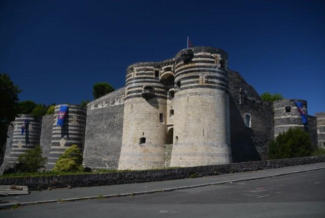 Die mittelalterliche Wehrburg in Angers