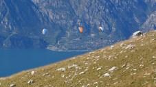 Paraglider im Abflug vom Monte Baldo