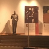 Life-size statue of Malcolm X
