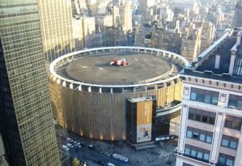 The iconic round shape of Madison Square Garden