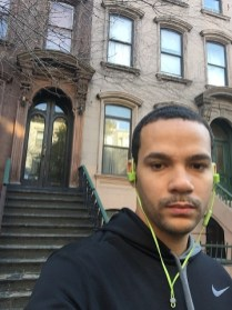 The author in front of the Hughes House
