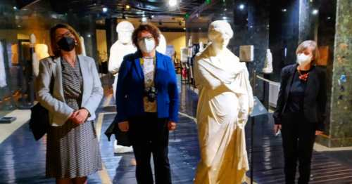 Delegation from Greece visited the Archaeological Museum and Kurshumli Аn