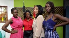 (l to right)Nana Mensah, ETV Ghana E News host Vanessa Gyan, An African City creator Nicole Amarteifio and Maame