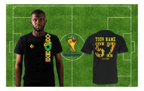 Fly Star - Ghana Black Stars - Brazil 2014 T-Shirt