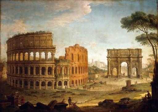 Colosseum painteb by Jacobe de HEUSCH