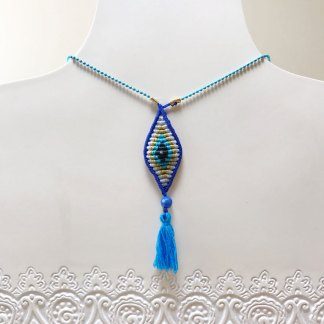 Macrame Mati Necklace
