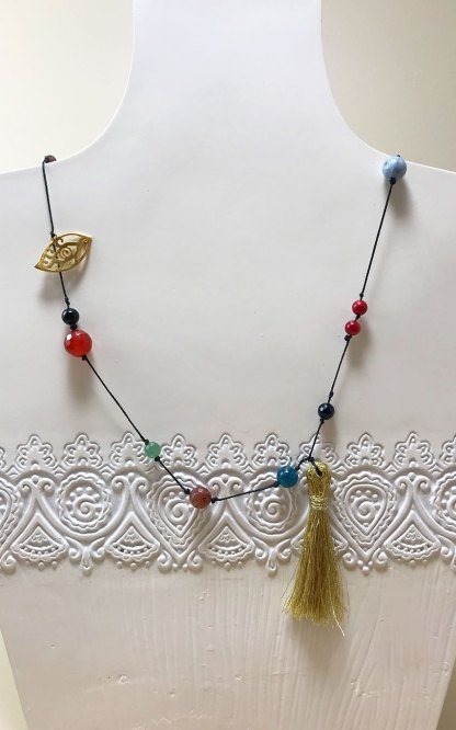 Mluti-Colored Beaded Necklace