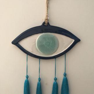Large Blue Tasseled Mati