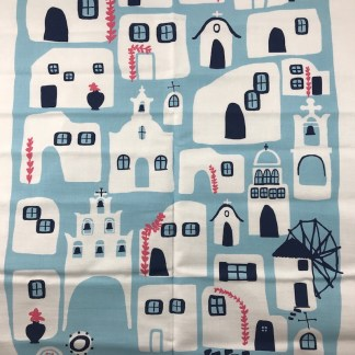 greek islands towel