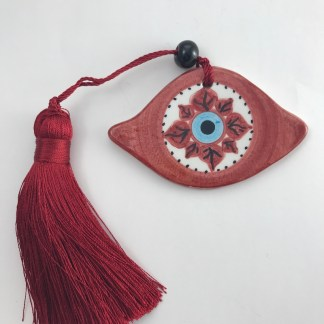 Red Star Evil Eye Charm