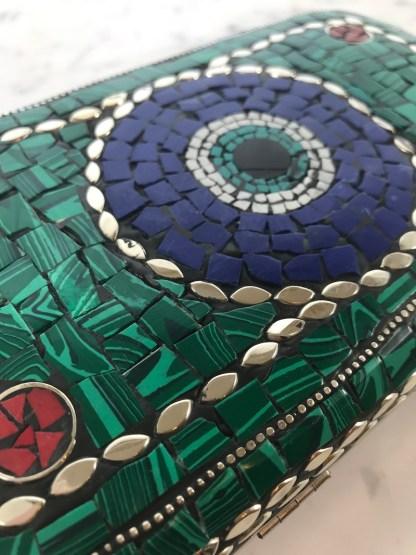 Mosaic Purse Green Alt