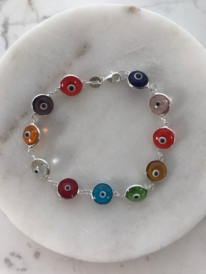 MultiClear Glass Mati Bracelet