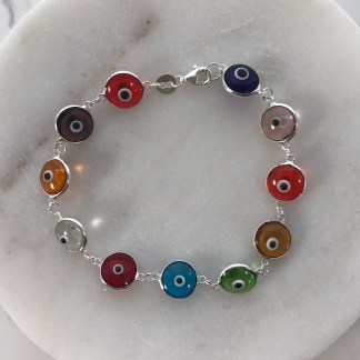 MultiClear Glass Mati Bracelet