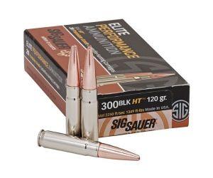Sig Sauer Elite Hunting Solid Copper .300 AAC Blackout 120 grain Open Tip 260rnd