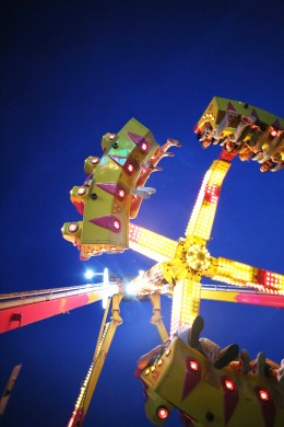 Feet hang down from a ride at the Boyle County Fair. (File Photo)