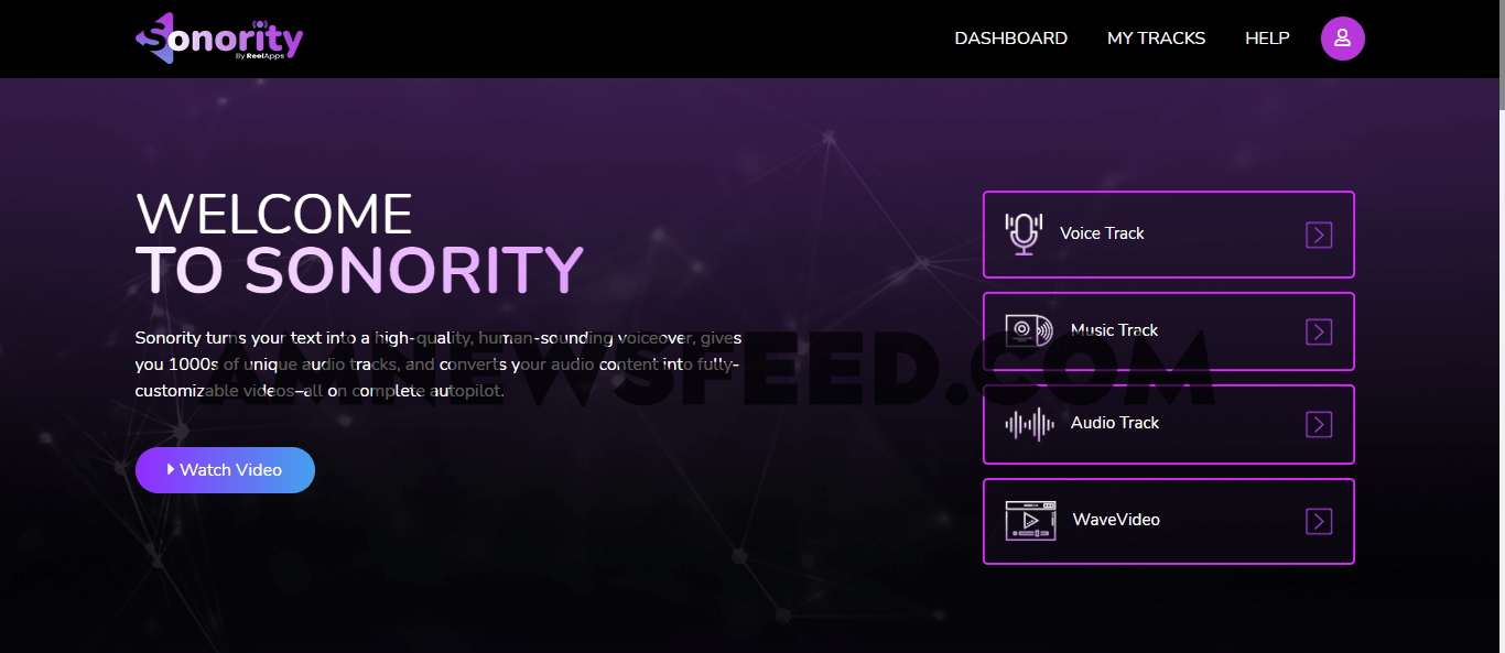 sonority-review-main-dashboard