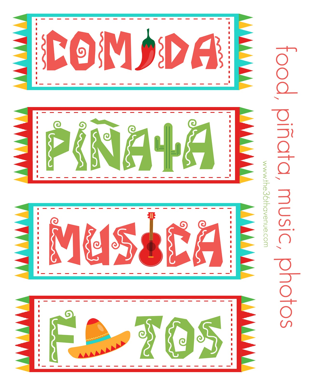 Free Festive Cinco De Mayo Printables Freebie