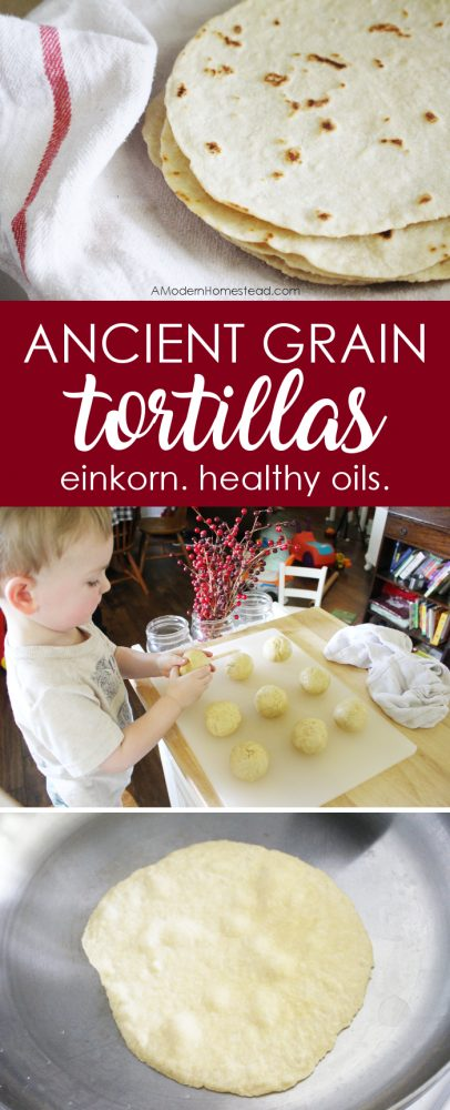 Homemade tortillas are a breeze to whip up and wow even the toughest critics. These thin and soft tortillas made with einkorn will not only taste great for your next meal, but they freeze well so you can make them in batches and have them on hand any time!