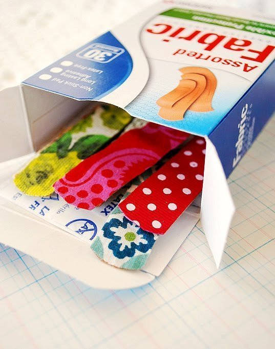 DIY fabric band-aids gifts for kids