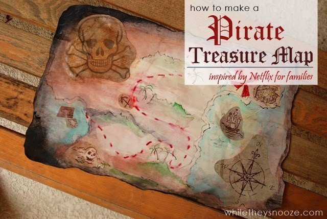 DIY pirate treasure map gift ideas for kids