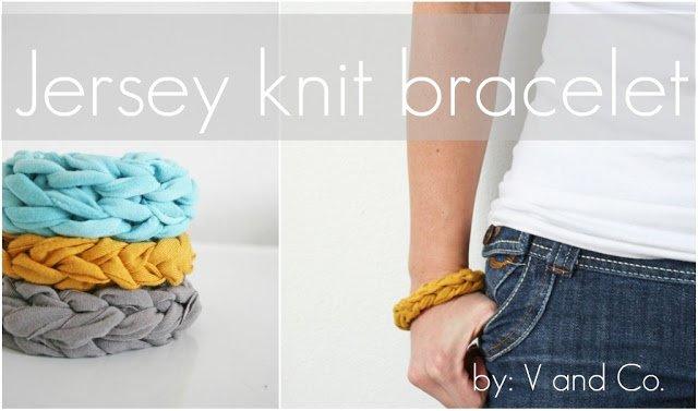 DIY Bracelet made from repurposed tshirt