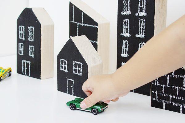 DIY wooden city blocks for kids
