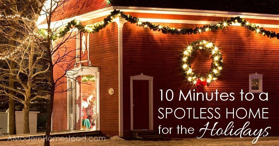 10 Minutes to a Spotless House - Speed cleaning tips that really work! Just in time for the holidays!