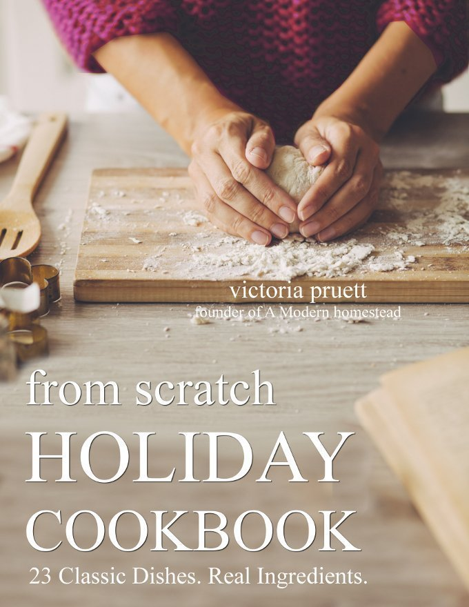 """""""From Scratch"""" has 23 tried and true holiday recipes taken straight from my family's cookbook. These recipes have been perfected over generations, and each one features the best ingredients, such as raw milk, pastured eggs, and Einkorn flour."""