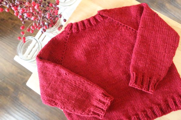 Weasley Sweater with body and sleeves finished