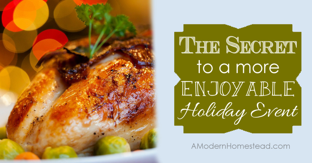 The Secret to a More Enjoyable Holiday Event. Great tips that will help make your holiday has happy behind the camera as it appears in front!