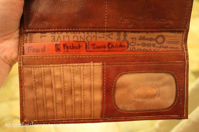 Finished DIY no sew envelopes in wallet