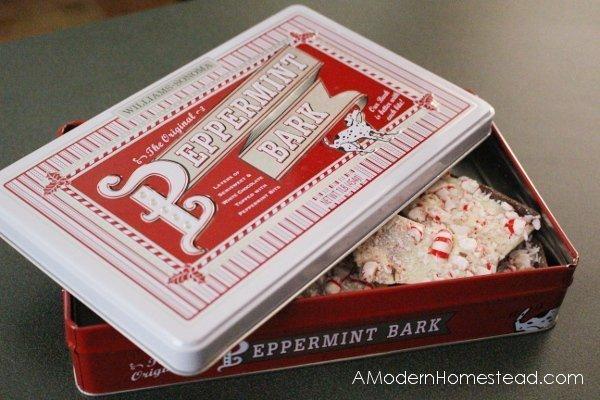 close up of copycat peppermint bark recipe