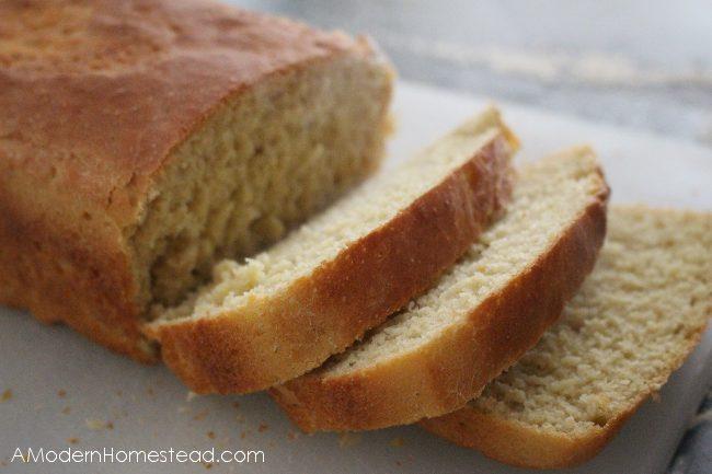 sliced homemade einkorn bread
