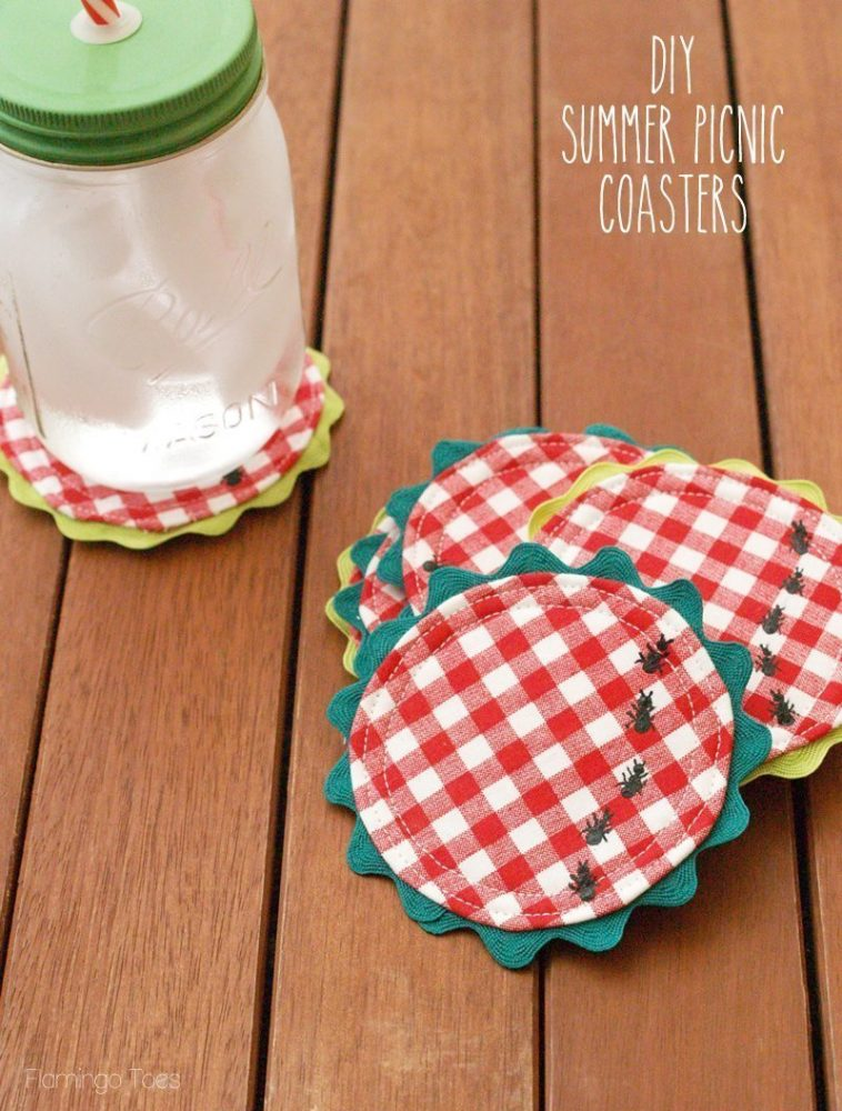 DIY fabric coasters easy fabric project