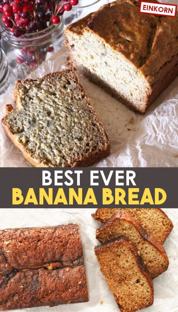 Homemade einkorn banana bread promo