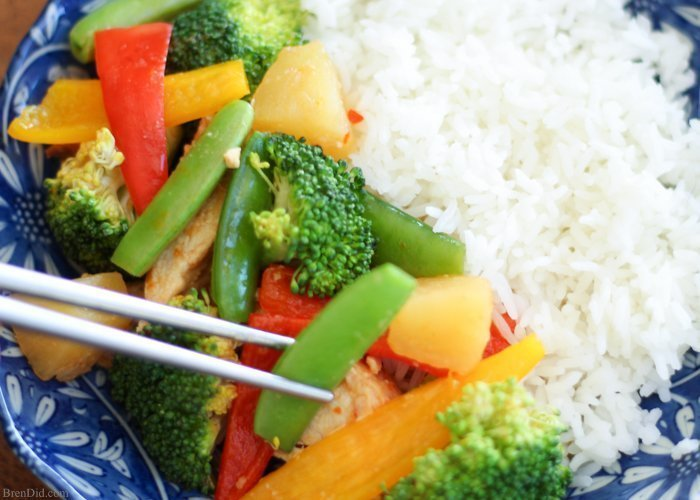 Sweet and Sour Pineapple Chicken from Brendid.com