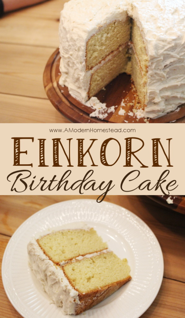 Yes! Finally a light and fluffy einkorn birthday cake! And hello, that buttercream icing?? This seriously looks SO GOOD!