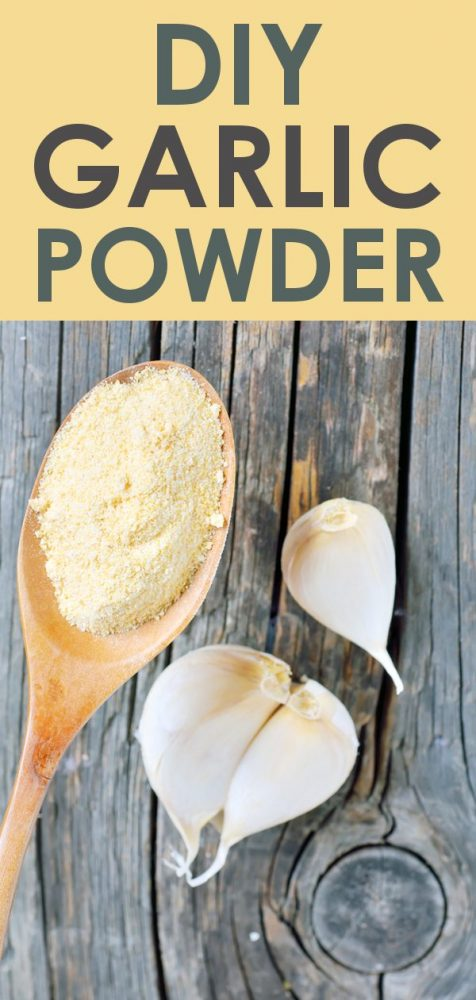 easy diy garlic powder at home
