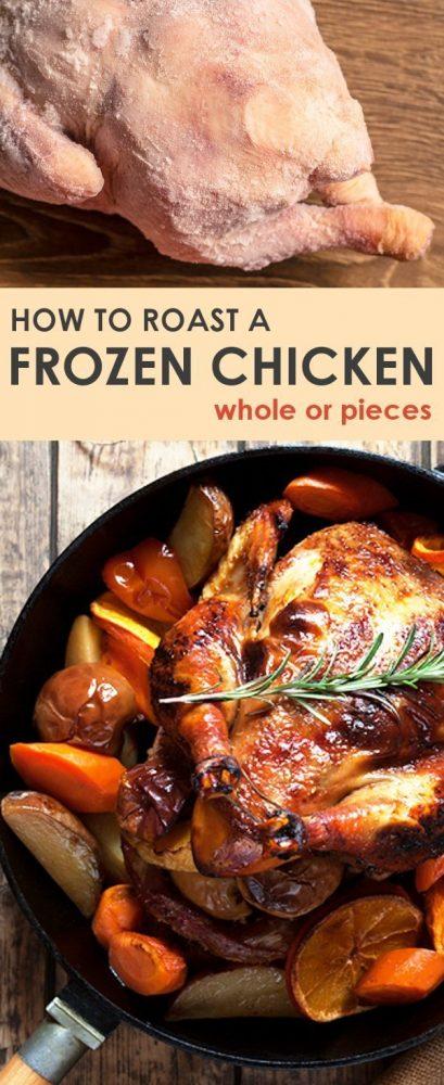 cook frozen chicken in the oven