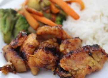 Easy sticky chicken with rice. This lemon honey chicken is delicious for any night of the week! Plus, you can either bake it or fry it, depending on what you like! I love this!
