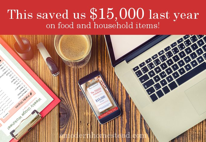 These worksheets saved us $15,000 last year and we didn't have to give up anything! Seriously, this is the best budgeting system I've ever seen. Easy to use worksheets for everything in your house, not just food!
