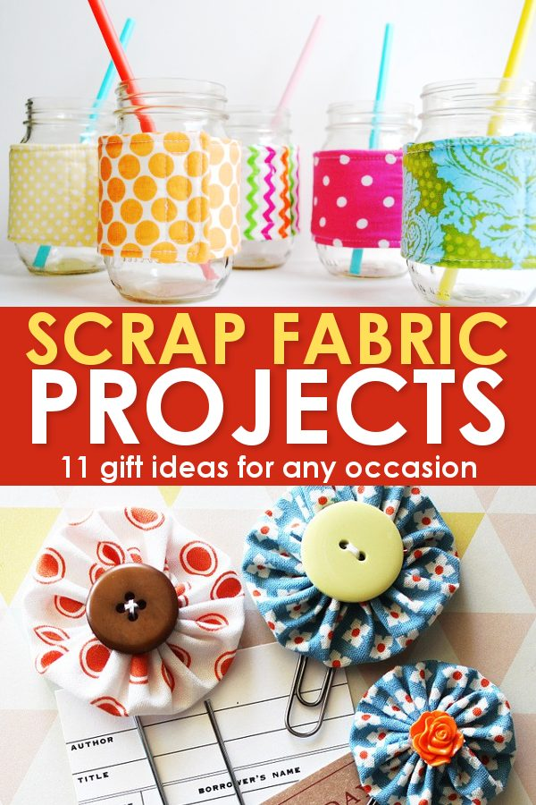 Scrap fabric projects yo-yos and cup cozies