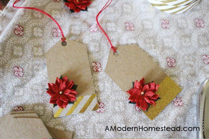 DIY christmas gift tags ready for names