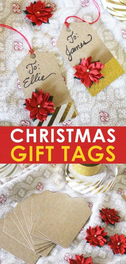 handmade diy christmas gift tags