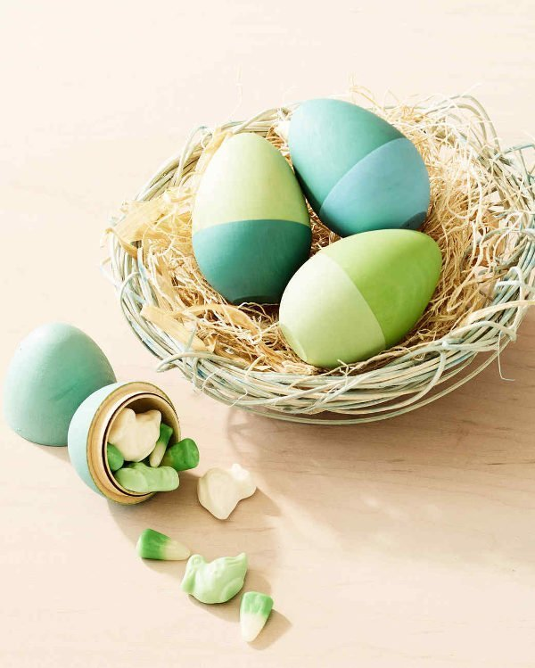hollow wooden easter eggs