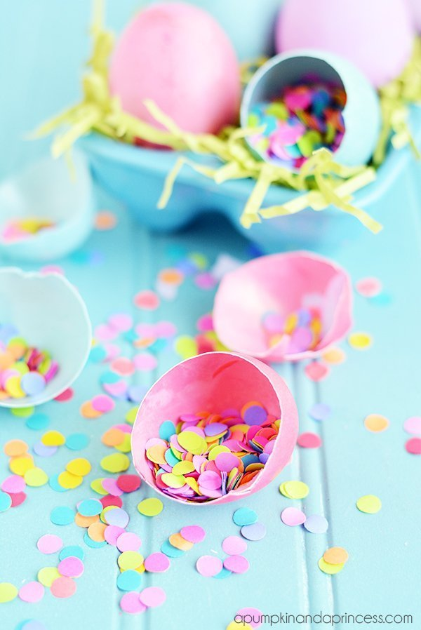 DIY Confetti easter eggs