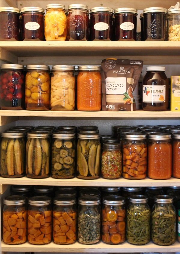 modified pantry for bulk food storage