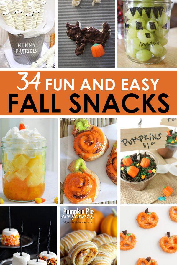 easy fall recipes for fall treats